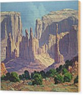 Shadows In The Valley Wood Print by Randy Follis