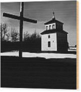 Shadows Of The Bell Tower Wood Print
