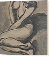 Shadows On The Sand1 - Nudes Gallery Wood Print