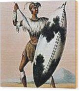 Shaka Zulu (c1787-1828) Wood Print