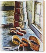 Shaker Box Making Vignette  Wood Print
