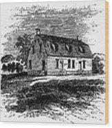 Shaker Church, 1875 Wood Print