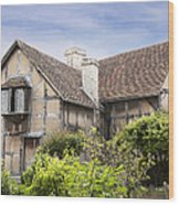 Shakespeare's Birthplace. Wood Print by Jane Rix