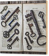 Shakspeare King Lear And Old Keys Wood Print