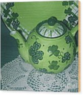 Shamrock Tea Wood Print