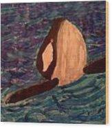 Shamu Wood Print