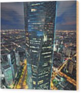 Shanghai Tower Wood Print