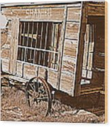 Shaniko Paddy Wagon Wood Print by Cindy Wright