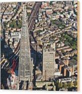 Shard London Aerial View Wood Print