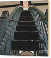Sharon Temple Stairs Wood Print