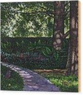 Shaw's Gardens Stone Pathway Wood Print