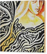 She Wood Print by Ayan  Ghoshal