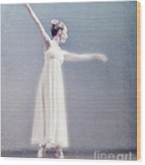 She Dances Wood Print by Linde Townsend