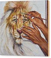 She Paints Him  Wood Print by Martin Katon