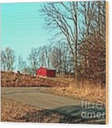 Shed Around The Bend Wood Print