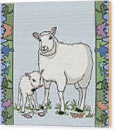 Sheep Artist Sheep Art Wood Print
