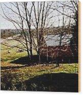 Sheep Farm Wood Print
