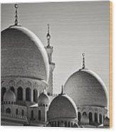 Sheikh Zayed Mosque Wood Print