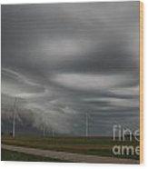 Shelf Cloud 12 Wood Print