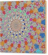 Shelly Spiral Wood Print