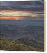 Shenandoah Sunset Wood Print by Pierre Leclerc Photography
