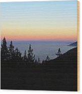 Sherbet Sunset Big Sur Wood Print