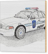 Sheriff Car 2724 Wood Print by Calvert Koerber
