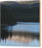 Sheriff Lake Flat Tops Colorado Wood Print