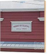 Shido Building Circa 1923 Wood Print