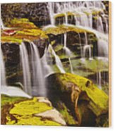 Shifen Waterfall Wood Print
