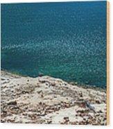 Shimmering Azure Water Wood Print