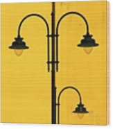 Shine On.. #italy #lamppost Wood Print by A Rey