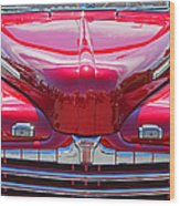 Shiny Red Ford Convertible. Wood Print