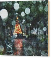 Shiny Tree In Bienville Square Wood Print
