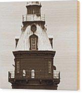 Ship John Shoal Light Wood Print