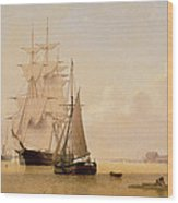 Ship Painting Wood Print by WF Settle