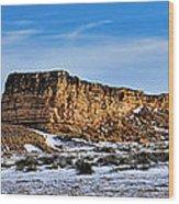 Ship Rock In Kansas Wood Print