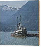 Shipping Freighter In Squamish British Columbia No.0187 Wood Print