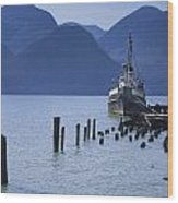 Shipping Freighter In Squamish British Columbia No.0201 Wood Print