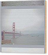 Shipping Triptych - San Francisco Bay Wood Print