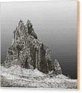 Shiprock Mountain Four Corners Wood Print