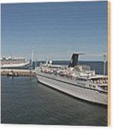 Ships At Port Wood Print by Jaak Nilson