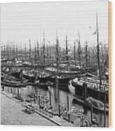 Ships In Harbour 1900 Wood Print