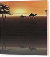 Ships Of The Desert Wood Print