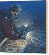 Shipwreck Excavation Wood Print
