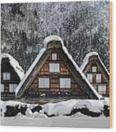 Shirakawago Wood Print