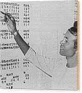 Shirley Chisholm 1924-2005 Monitoring Wood Print by Everett