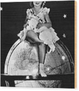 Shirley Temple, Fox Film Portrait, Ca Wood Print