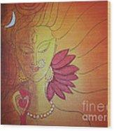 Shivshakti - Ardhnaarishwar Wood Print