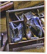 Shoe - The Shoe Cobblers Box Wood Print